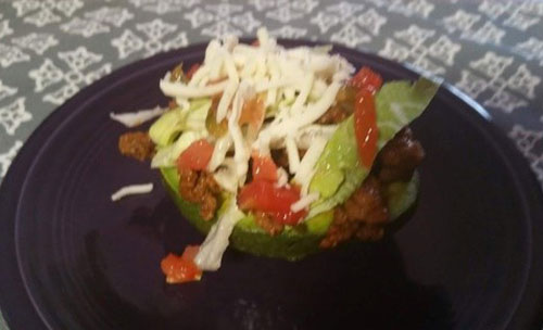 Taco Stuffed Avocado